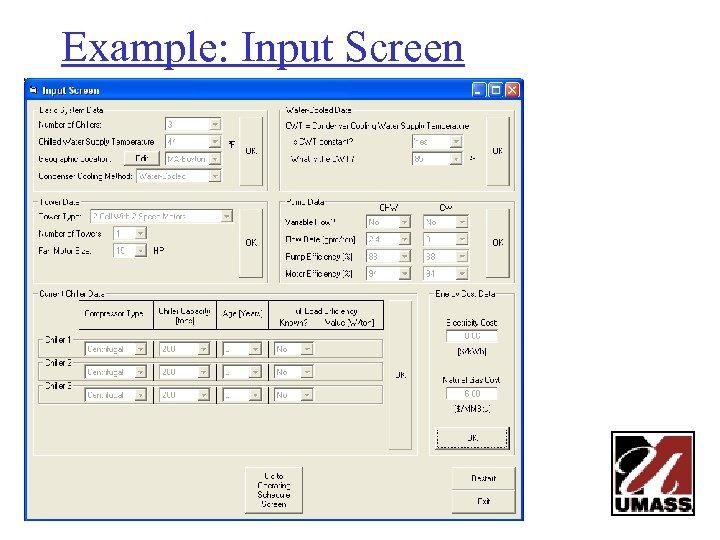 Example: Input Screen