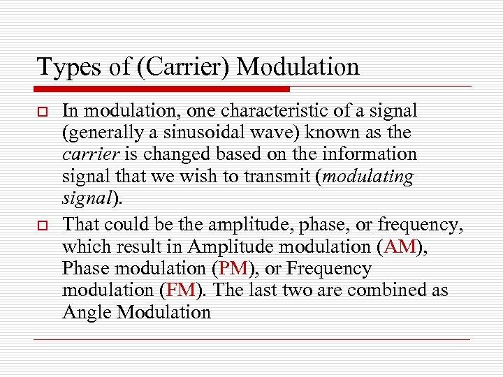 Chapter 4 Amplitude Modulation Baseband vs Passband