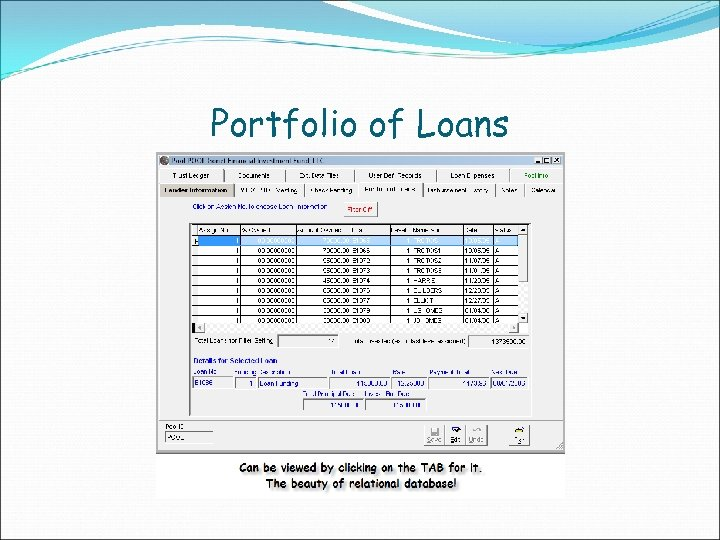 Portfolio of Loans