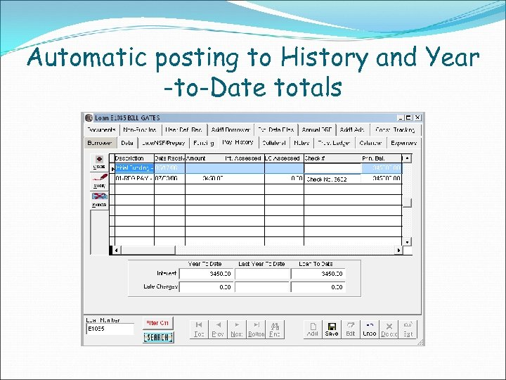 Automatic posting to History and Year -to-Date totals