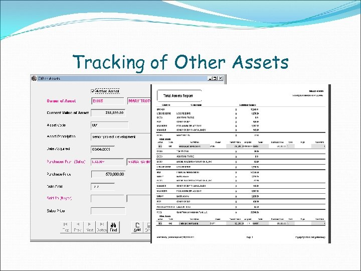 Tracking of Other Assets