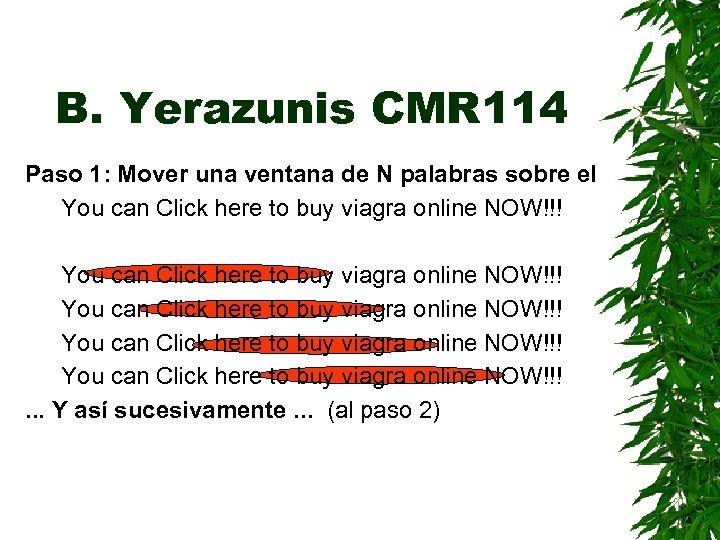 B. Yerazunis CMR 114 Paso 1: Mover una ventana de N palabras sobre el
