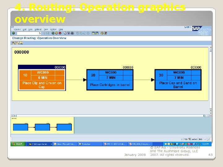 4. Routing: Operation graphics overview January 2008 © SAP AG - University Alliances and