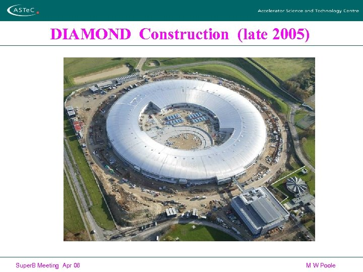 DIAMOND Construction (late 2005) Super. B Meeting Apr 06 M W Poole