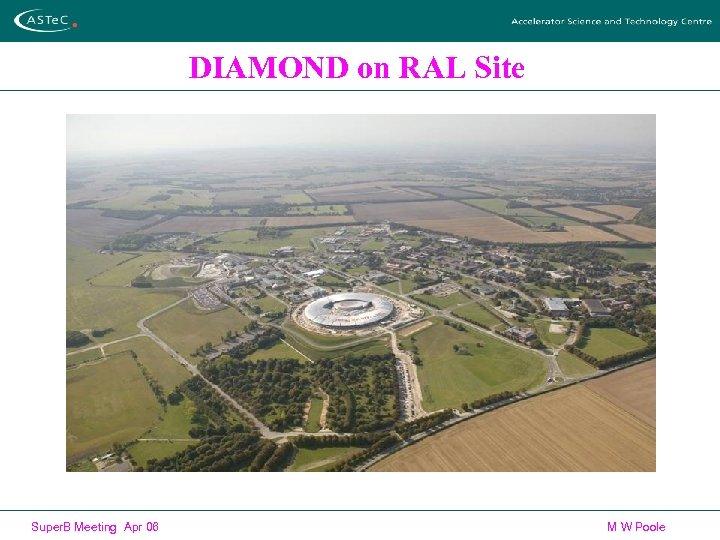 DIAMOND on RAL Site Super. B Meeting Apr 06 M W Poole