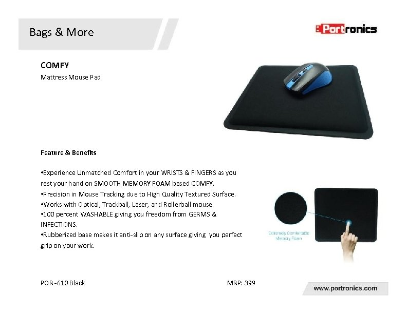 Bags & More COMFY Mattress Mouse Pad Feature & Benefits • Experience Unmatched Comfort