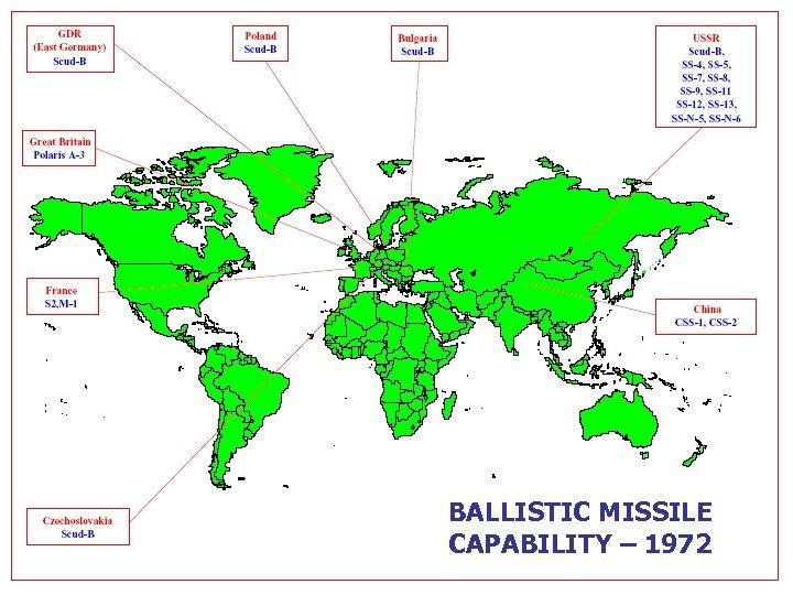 BALLISTIC MISSILE CAPABILITY – 1972