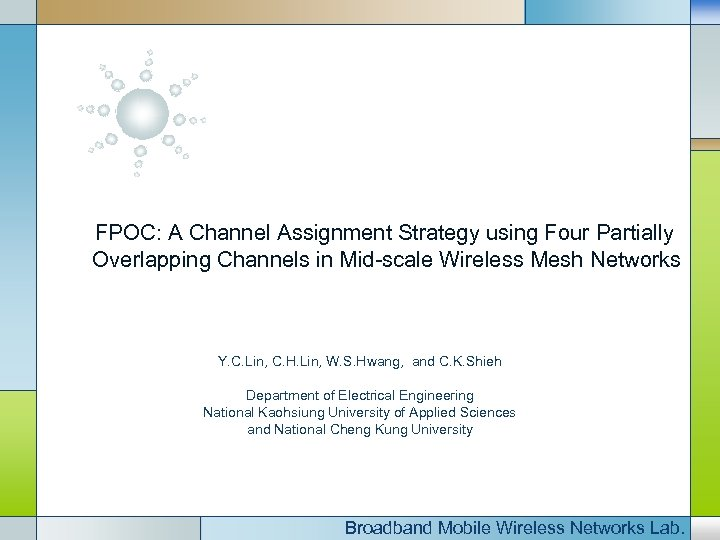 FPOC: A Channel Assignment Strategy using Four Partially Overlapping Channels in Mid-scale Wireless Mesh