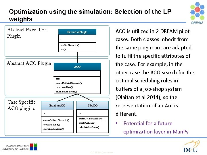 Optimization using the simulation: Selection of the LP weights Abstract Execution Plugin Execution. Plugin