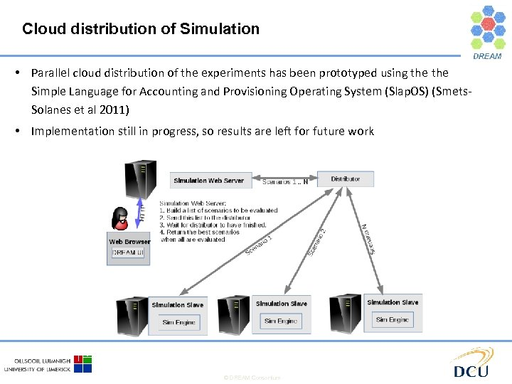 Cloud distribution of Simulation • Parallel cloud distribution of the experiments has been prototyped