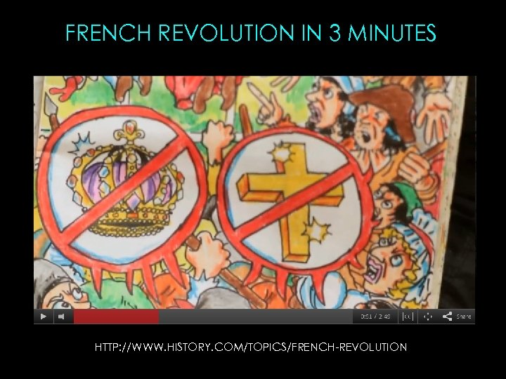 FRENCH REVOLUTION IN 3 MINUTES HTTP: //WWW. HISTORY. COM/TOPICS/FRENCH-REVOLUTION