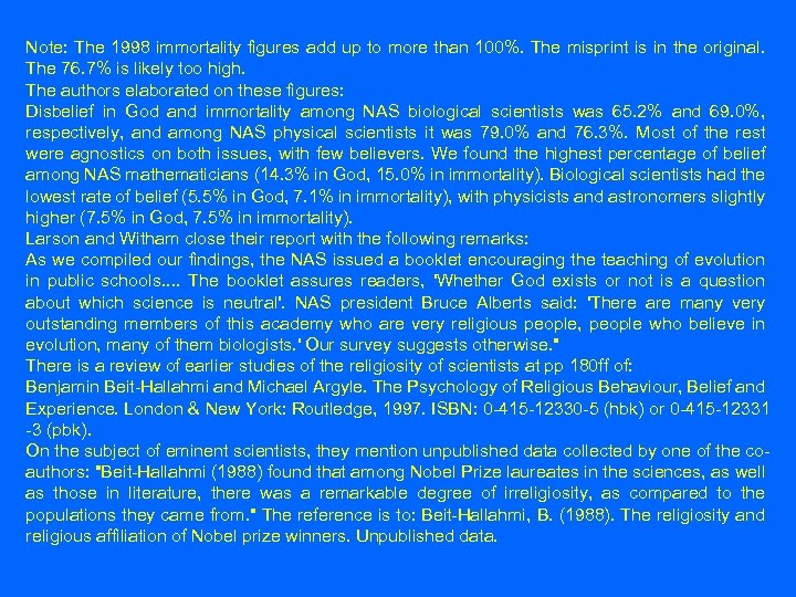 Note: The 1998 immortality figures add up to more than 100%. The misprint is