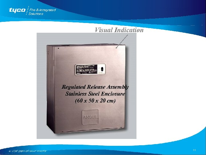Visual Indication Regulated Release Assembly Stainless Steel Enclosure (60 x 50 x 20 cm)