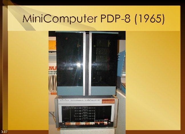 Mini. Computer PDP-8 (1965) 3 -17