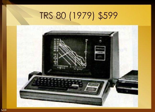 TRS 80 (1979) $599 3 -19