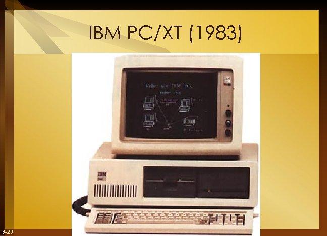 IBM PC/XT (1983) 3 -20