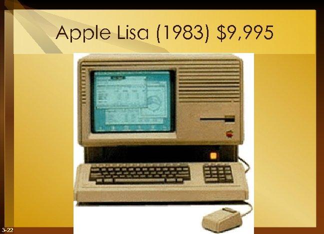 Apple Lisa (1983) $9, 995 3 -22