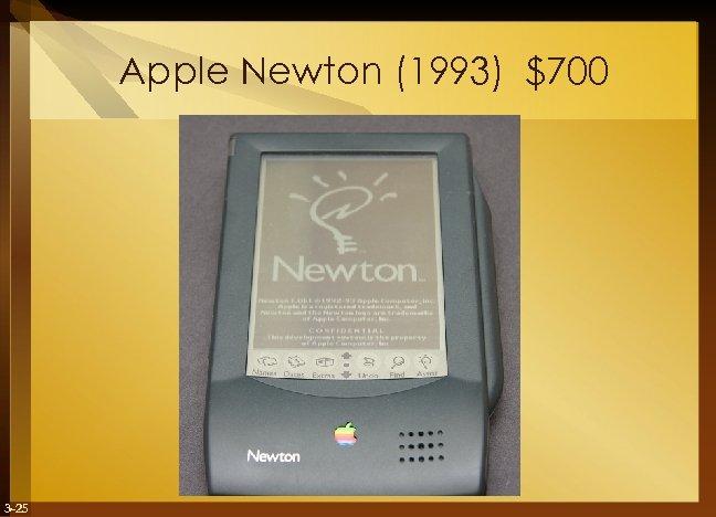 Apple Newton (1993) $700 3 -25