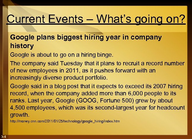 Current Events – What's going on? Google plans biggest hiring year in company history