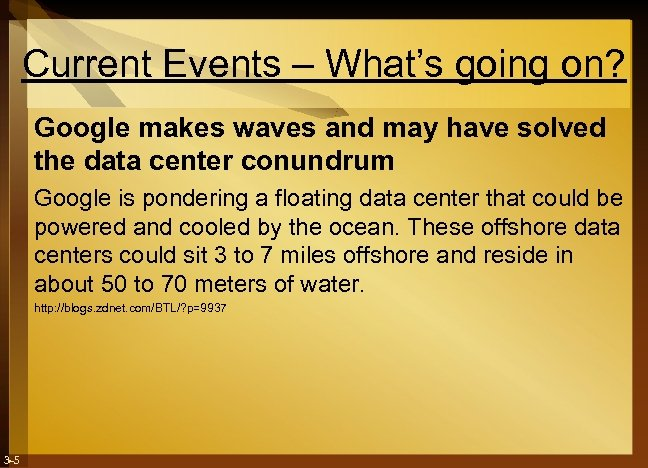 Current Events – What's going on? Google makes waves and may have solved the