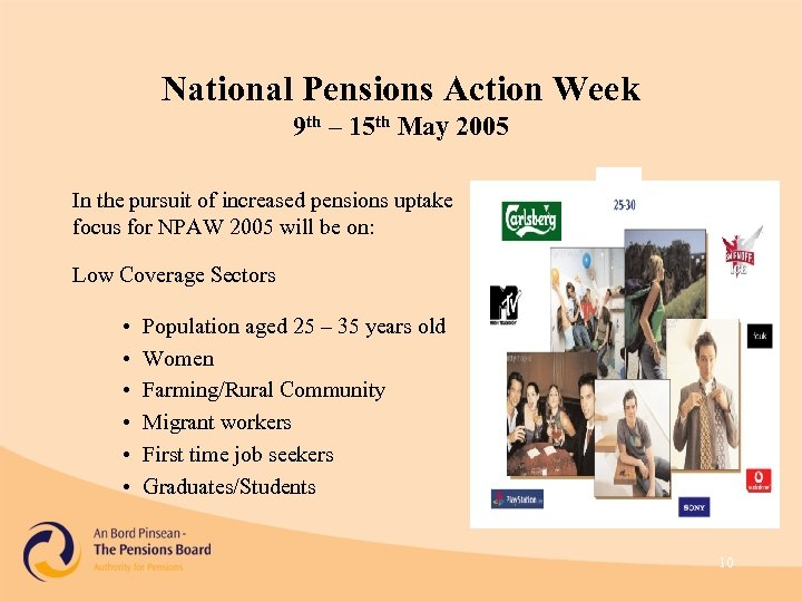 National Pensions Action Week 9 th – 15 th May 2005 In the pursuit