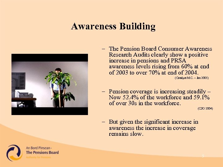 Awareness Building – The Pension Board Consumer Awareness Research Audits clearly show a positive