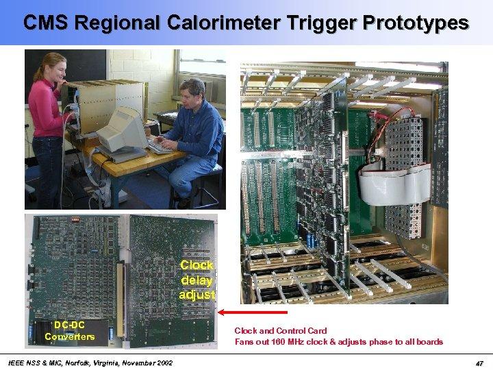 CMS Regional Calorimeter Trigger Prototypes Clock delay adjust DC-DC Converters IEEE NSS & MIC,