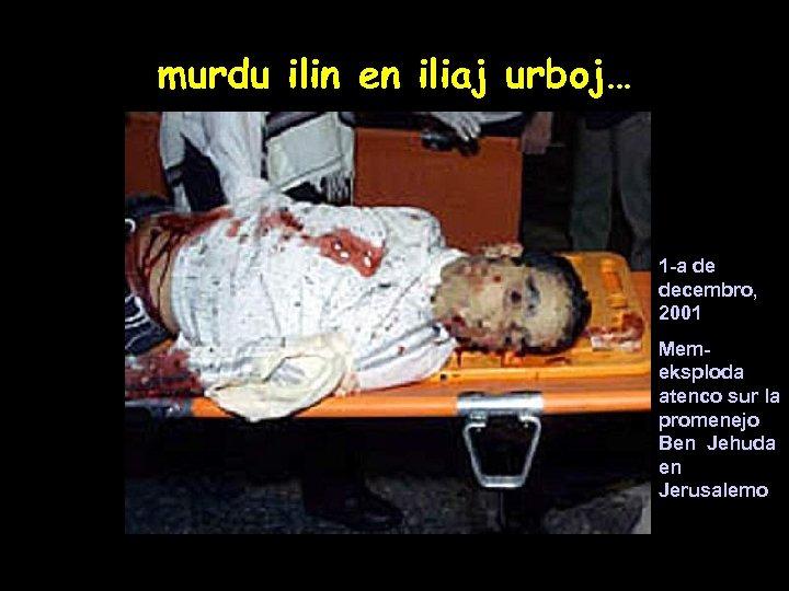 murdu ilin en iliaj urboj… 1 -a de decembro, 2001 Memeksploda atenco sur la