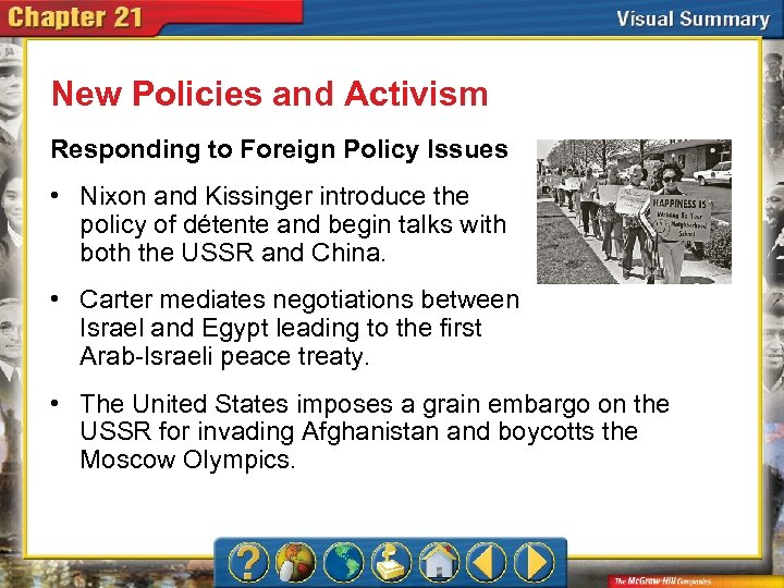 New Policies and Activism Responding to Foreign Policy Issues • Nixon and Kissinger introduce