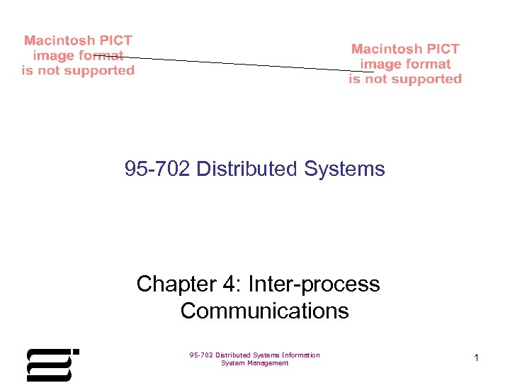 95 -702 Distributed Systems Chapter 4: Inter-process Communications 95 -702 Distributed Systems Information System