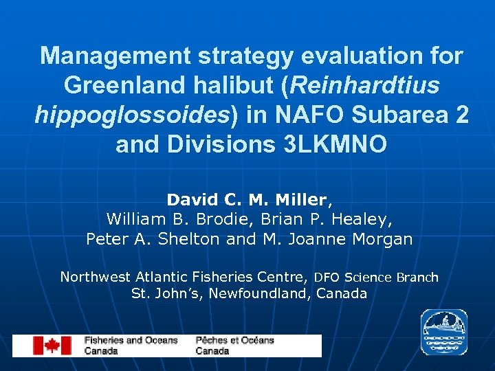 Management strategy evaluation for Greenland halibut (Reinhardtius hippoglossoides) in NAFO Subarea 2 and Divisions