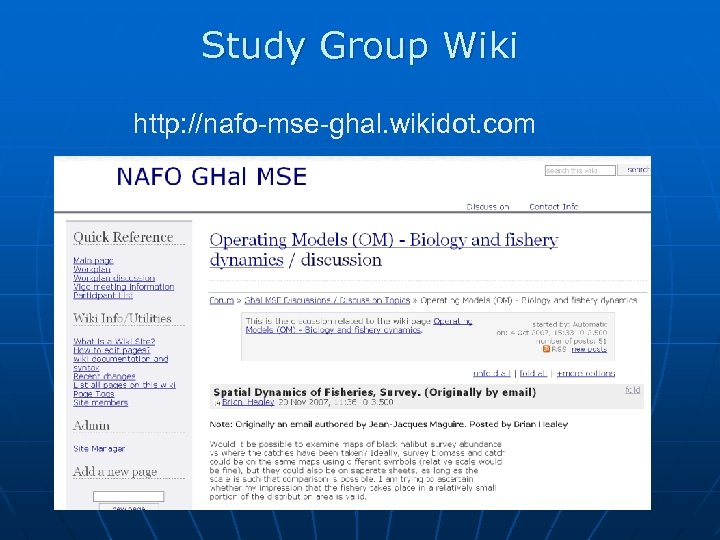 Study Group Wiki http: //nafo-mse-ghal. wikidot. com