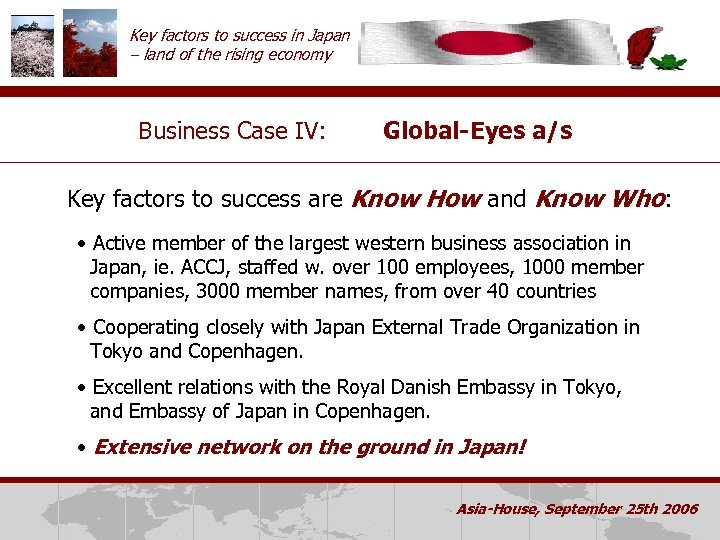 Key factors to success in Japan – land of the rising economy Business Case
