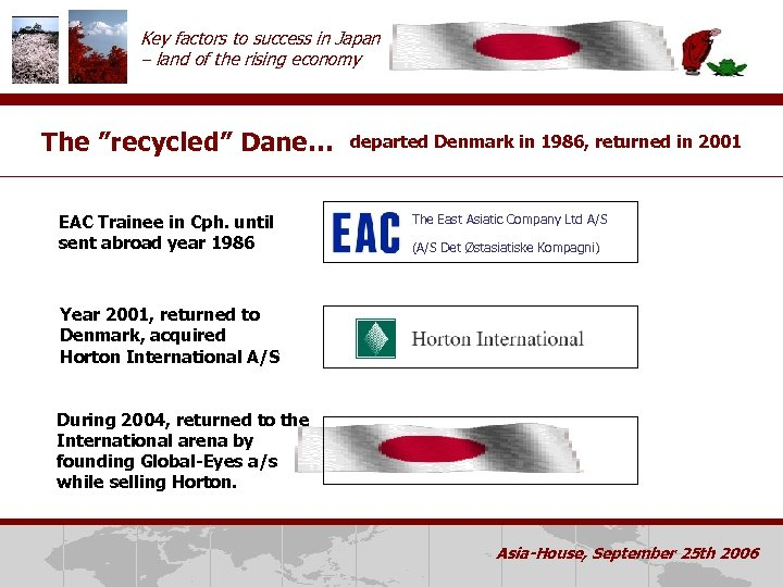 """Key factors to success in Japan – land of the rising economy The """"recycled"""""""