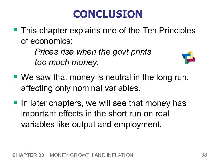 30 Money Growth and Inflation PRINCIPLES OF FOURTH