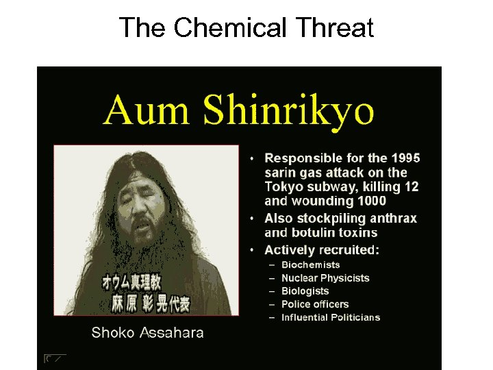 The Chemical Threat