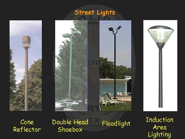 Street Lights Cone Reflector Double Head Shoebox Floodlight Induction Area Lighting