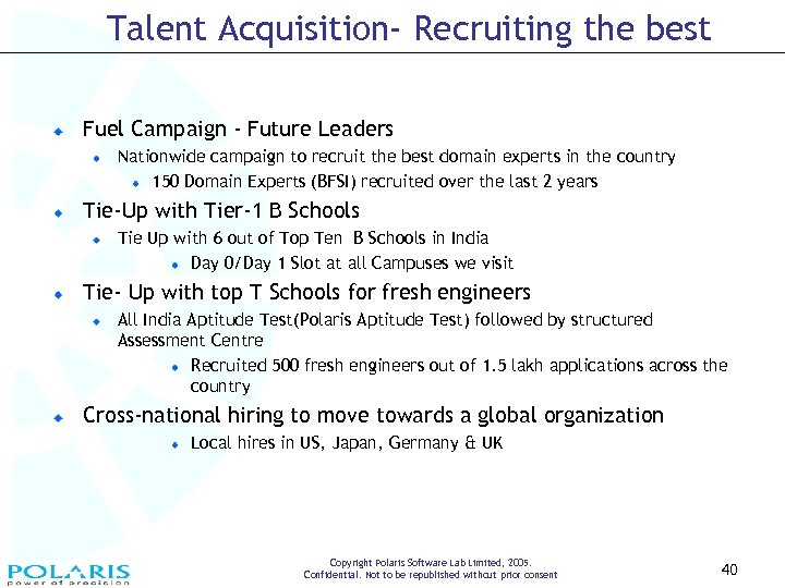 Talent Acquisition- Recruiting the best Fuel Campaign - Future Leaders Nationwide campaign to recruit