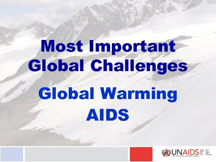 Most Important Global Challenges Global Warming AIDS