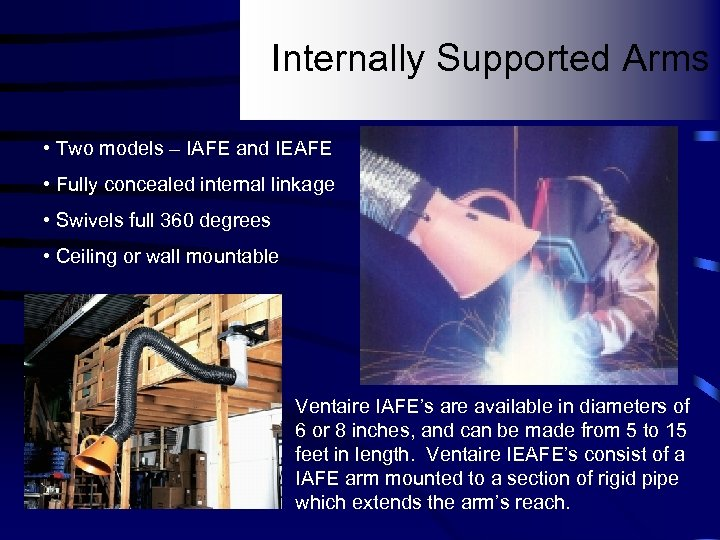 Internally Supported Arms • Two models – IAFE and IEAFE • Fully concealed internal