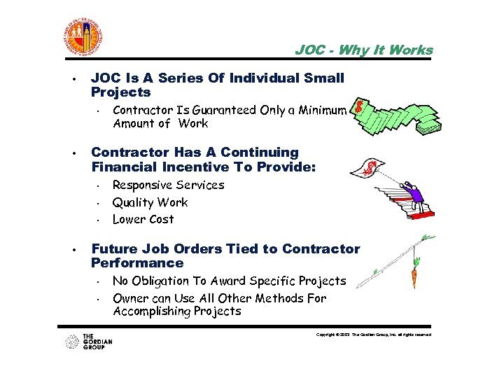 JOC - Why It Works • JOC Is A Series Of Individual Small Projects