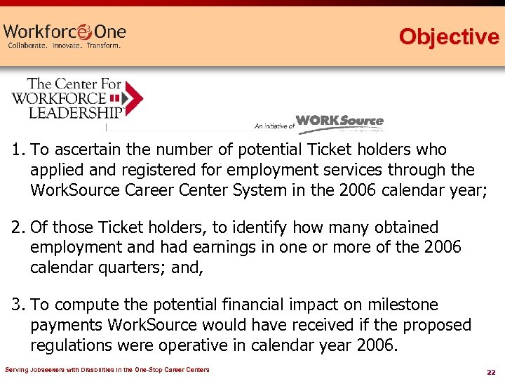 Objective 1. To ascertain the number of potential Ticket holders who applied and registered