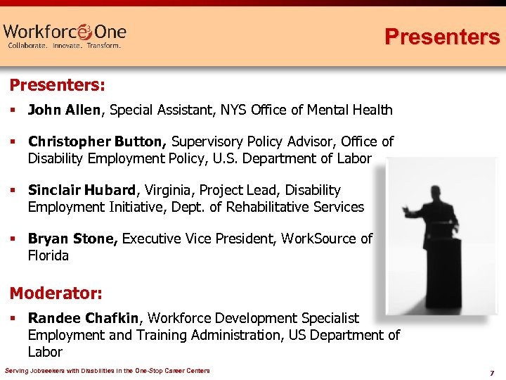 Presenters: § John Allen, Special Assistant, NYS Office of Mental Health § Christopher Button,