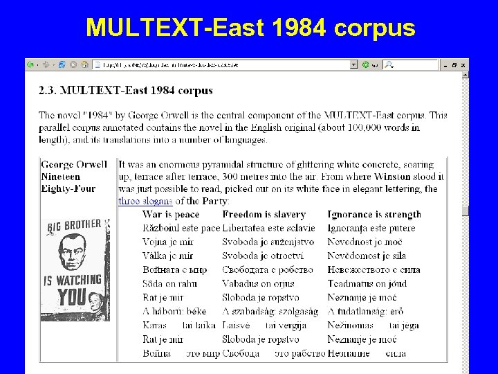 MULTEXT-East 1984 corpus
