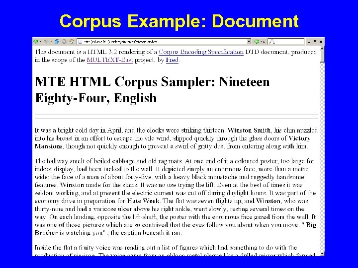 Corpus Example: Document