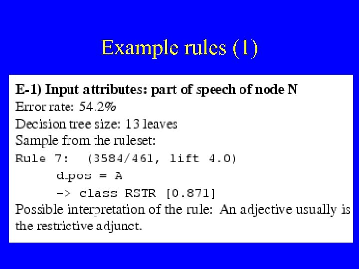 Example rules (1)