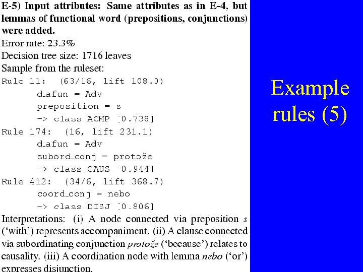 Example rules (5)