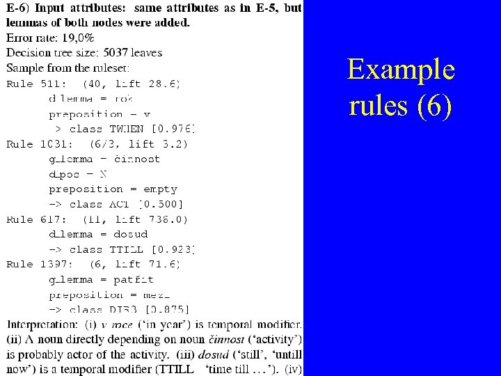 Example rules (6)