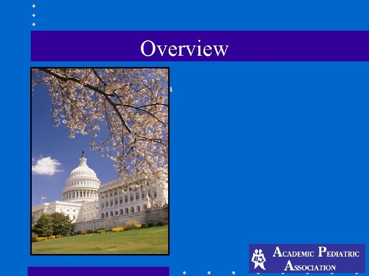 Overview -110 th (first session) Congress at a glance -Why your advocacy is important
