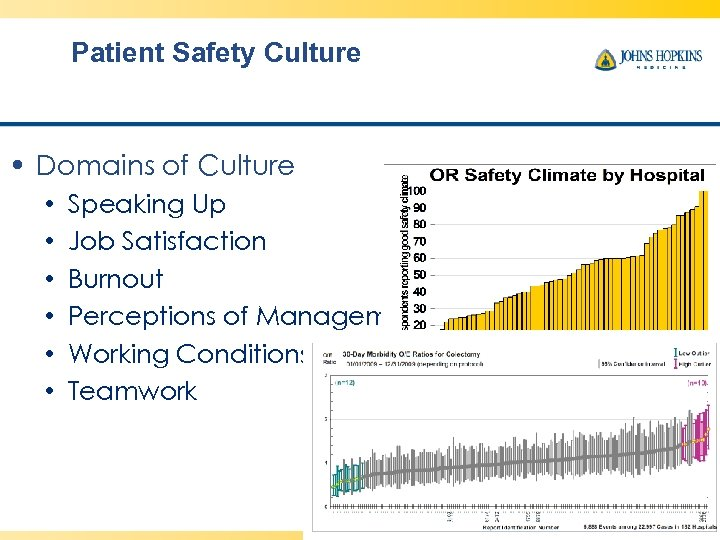 Patient Safety Culture • Domains of Culture • • • Speaking Up Job Satisfaction